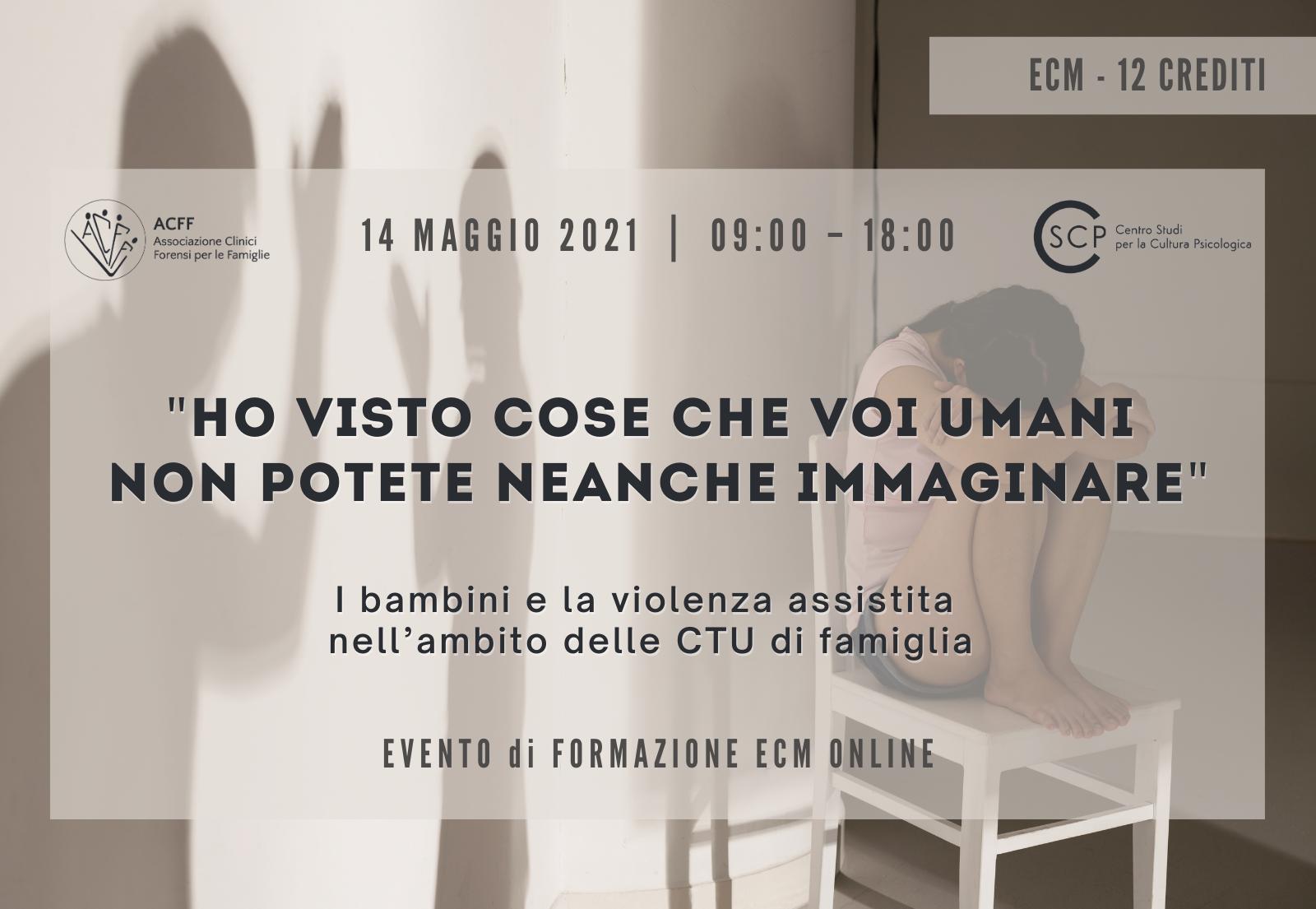 I bambini e la violenza assistita nell'ambito delle CTU di famiglia • 14/05 • ECM 12