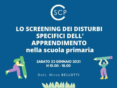 Lo screening dei disturbi specifici dell' apprendimento nella scuola primaria