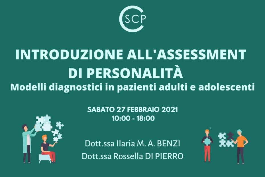 INTRODUZIONE ALL'ASSESSMENT DI PERSONALITÀ: Modelli diagnostici in pazienti adulti e adolescenti