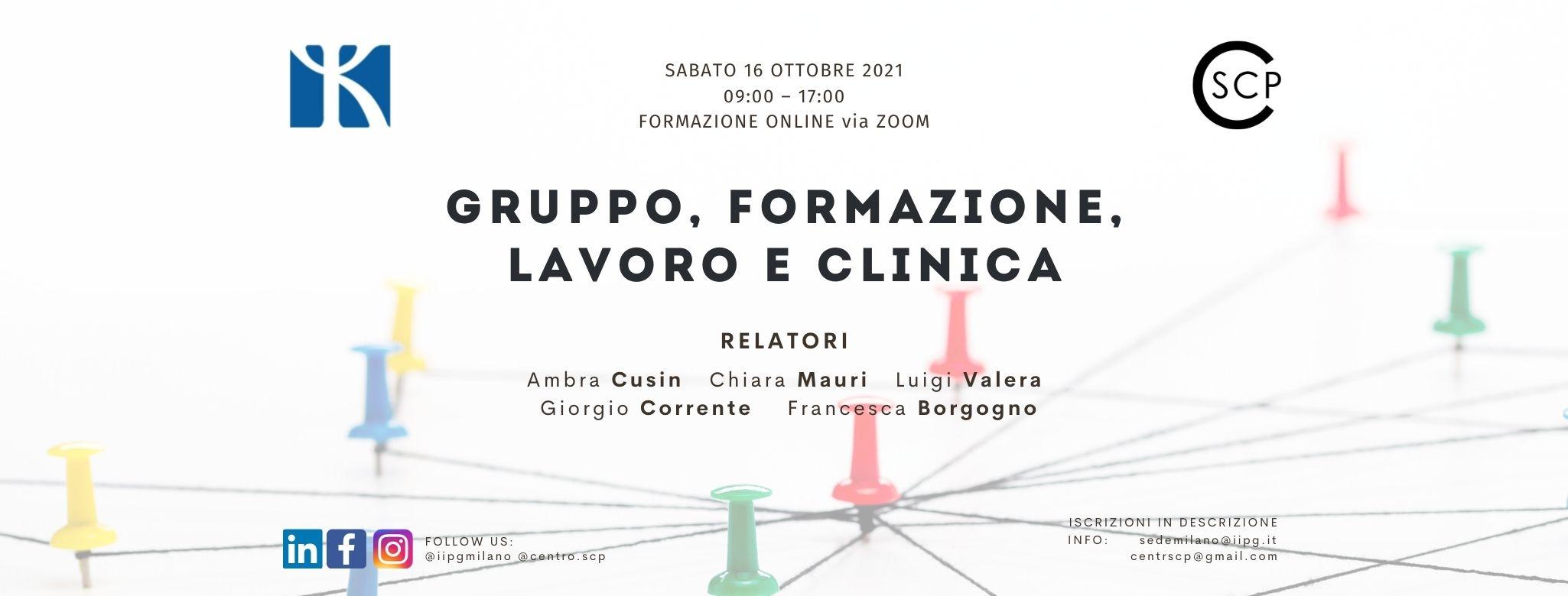 Gruppo, formazione, lavoro e clinica